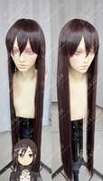 Kirito_GGO 100cm Brown Purple Long Straight Synthetic Cosplay Anime Wig
