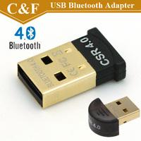 Mini USB Bluetooth Adapter V 4.0 Dual Mode Wireless Dongle For Win7 Vista XP 32/64 Win8 Black Dropshipping + Freeshipping