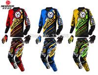 Latest Scoyco Motorcycle Athletics Cross country Set Off-road pants P033 Racing suit T200 Gloves MX51 automobile race Jackets