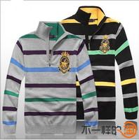New 2014 Autumn Brand Casual Cotton Men Stripe Sweaters