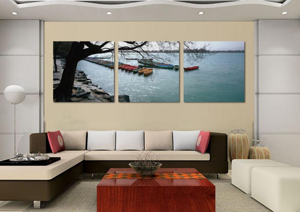 Online kopen wholesale zeilschip schilderij uit china zeilschip schilderij groothandel - Muur decoratie ontwerp voor woonkamer ...