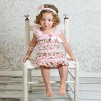 Free Shipping Pink Lace & Satin Floral Dress Infant Baby Girls Lace Dresses Children Clothing Princess Flower Tutu Dress
