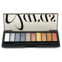 2014 New Pro 10 color sky with star full shimmer eyeshadow palette 03# 4 model for option