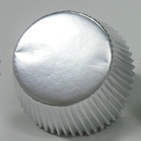 200pcs silver cupcake liners baking cups cake mould decorating for wedding