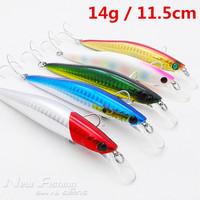 5pcs Fishing Lures Hard Bait Minnow Hooks Crank Baits 14g 11.5cm Japan Bass Lure Fishing Tackle High Quality
