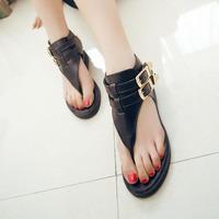 2014 fashion personality fashion punk clip toe sandals flat heel platform shoes