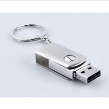 Metal rotary usb flash drive 8gb 16gb 32gb 64gb plate usb flash pen drive stick(China (Mainland))
