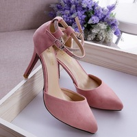 2014  point glittering pointy Pumps shoes with crystal Hepburn wind high-heeled shoes For women ladies 8cm Drop shipping