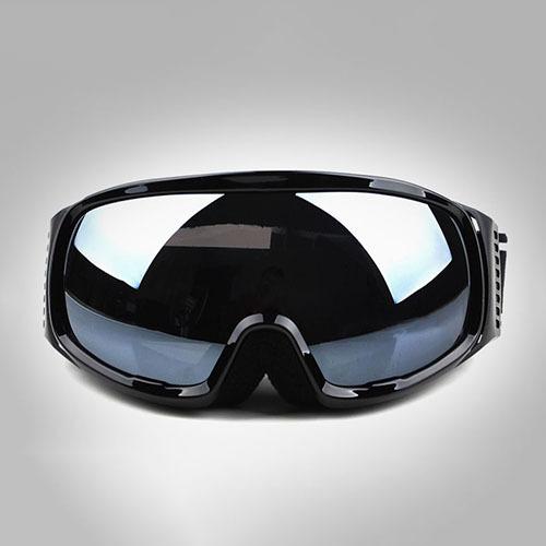Genuine Safety Goggles Black Frame Double Lens Anti-fog Wide View Spherical Polarized Lens Ski Goggles Men Women Snow Goggle(China (Mainland))