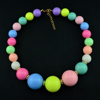 2014 Newest Fashion candy color Ribbon Necklaces & Pendants Simulated - pearl Rhinestone  Necklace  for women