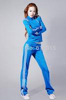 2014 spring autumn new arrival,free shipping, slim sportwear set,famous brand leisure suit ,fashion hoodie set(jacket&pant)