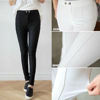 Size S-XL New Korean Style Fashion Women Elastic Cotton Slim Skinny Casual Pants Trousers Free Shipping LJ916