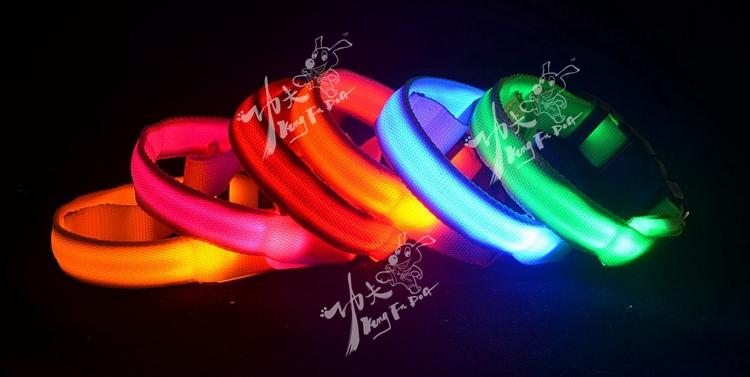 pet flashing collar wide selection pet dog glow collar free shipping & drop shipping pet LED lead(China (Mainland))