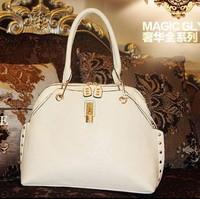 Fashion genuine leather handbag women's elegant fashion all-match cowhide cross-body handbag one shoulder women's handbag