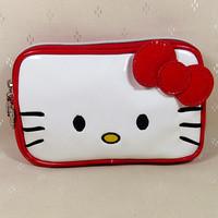 2014 New Beautiful Cute  Red    Hello kitty Bow Pu  Zipper   Women Girl Lady Wallet  Purse Size(18.0cm*11.0cm)