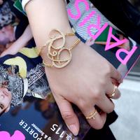 The golden moments sparkling drill handwritten letter drill bracelet