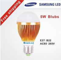 Free shipping by DHL/FEDEX 5W LED bulb E27/B22/GU10/E14 LED lamp LED Energy saving lamp Factory Outlet led lamp