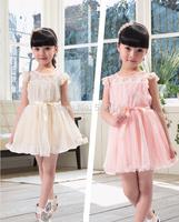 Hot Baby girl dress childrens summer kids girl princess lovely dress girls' lace dress lady dress 200pcs/lot