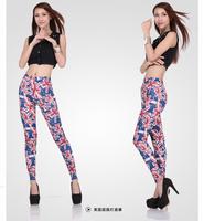 KIKEY Flag Printed Fashion Spring Women's New Milk Silk Leggings Leggings Free Shipping  P1042