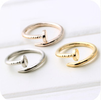 Fashion screw nails ring with money hyun Song Iraq with thousands of models from the stars Min.order $5(mix order)free shipping