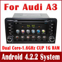 Android 4.2 Car DVD Player for Audi A3 2003-2011 with GPS Navigation Radio TV BT USB SD DVR 3G WIFI Audio Video 1.6G CPU+1G RAM