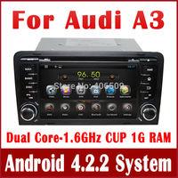 New Android 4.2 Car PC Car DVD Player for Audi A3 2003-2011 w/ GPS Navi Radio TV BT USB SD AUX DVR OBD 3G WIFI 1.6GHz CUP+1G RAM
