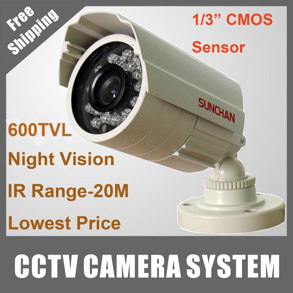 "SUNCHAN 1/3""CMOS Waterproof IR Outdoor Surveillance Security CCTV Camera 600TVL 60ft IR Night Vision E-668IIM(China (Mainland))"
