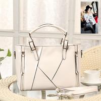 Wax cowhide women's handbag hot-selling fashion 2014 fashion patchwork women's bag shoulder bag messenger bag