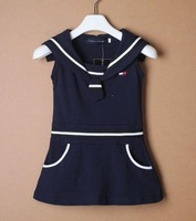FASHION SUMMER GIRLS dress  back with LETRERS cotton for 70CM-120CM children girl(2-6years baby) free shipping