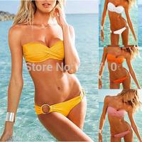 Free Shipping Beauty Women Favor Top Strapless Bikini set Sexy Swimsuit Top and Bottoms Swimwear 1pcs/lot FZ386