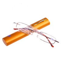 Brand Designer Pen portable folding Reading Glasses For Men Women  +1, +1.5,+2,+2.5,+3,+3.5,+4.0 Degrees High Quality PC Glasses