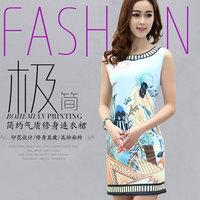 print dresses ethnic pattern women summer novelty dresses bodycon dress tunic vintage 50s dresses vestido estampado