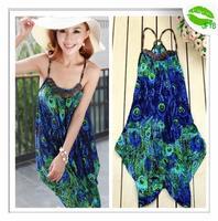 [JFYB] New 2014 Fashion Bohemian Dresses Women Casual Beach Dress Ladies Sexy Printed Summer Dress