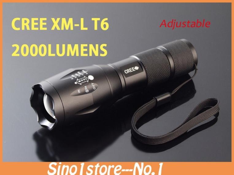новые led фонарик cree xm-l t6