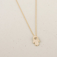(10 pcs/lot)-N66 Hamsa Necklace in Gold