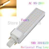 4W/6W/7W/9W/12W  G24 E27 Led Light Horizontal Plug Lamp AC85-265 SMD 3014 LED Corn Light Bulb Lamp