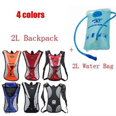New 2015 Sport Hiking cycling hydration 2L backpack water bag Bike bicycle hydration backpacks + 2L TPU cycling water bag(China (Mainland))