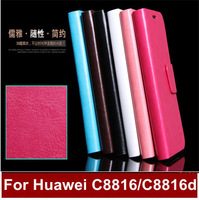 For huawei C8816/C8816d  2014 new arrival leather material top quality aliexpress leather huawei C8816 case for huawei C8816d