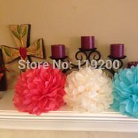 Free Shipping  10 pcs 30cm Tissue Paper Pom Poms Wedding, Birthday, Baby shower, Nurseries decoration