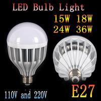 2pcs/lot  E27 5730 15W 18W 24W 36W white&warm white LED Bulb Lamps AC 220V 110V Bulb lighting  led bulb light lamp Free shipping