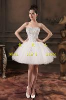 2014 design short wedding dress bride tube top puff skirt performance dress formal bridesmaid dress