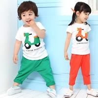 Hot-selling ! child set male female child short-sleeve pants set