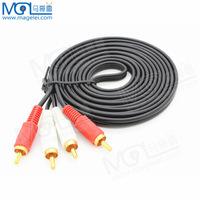 Free shipping+ 5M audio cable 2 RCA to 2RCA Male to Male AV Gold Plated cable