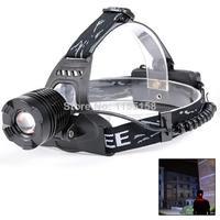 YY Free shipping 1800LM CREE XM-L XML T6 LED US Plug Zoomable Bike Lamp Headlamp Headlight  L0663