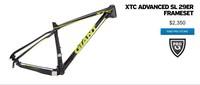 Wholesale ! ! ! 2014 GIANT Giant XTC ADVANCED SL 29ER frame 16 inches for BB92 bottom bracket handset 1 1 / 8