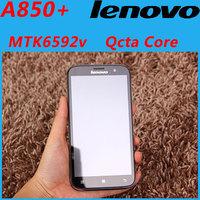 Original Lenovo A850 Octa Core A850+ mobile phone 5.5'' IPS MTK6592 1GB RAM 4GB ROM 5mp Android 4.2 GPS Multi Language