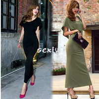 2014 New Women Summer Sexy Long Evening Dress Party Backless Beach Maxi Dress Two Colors