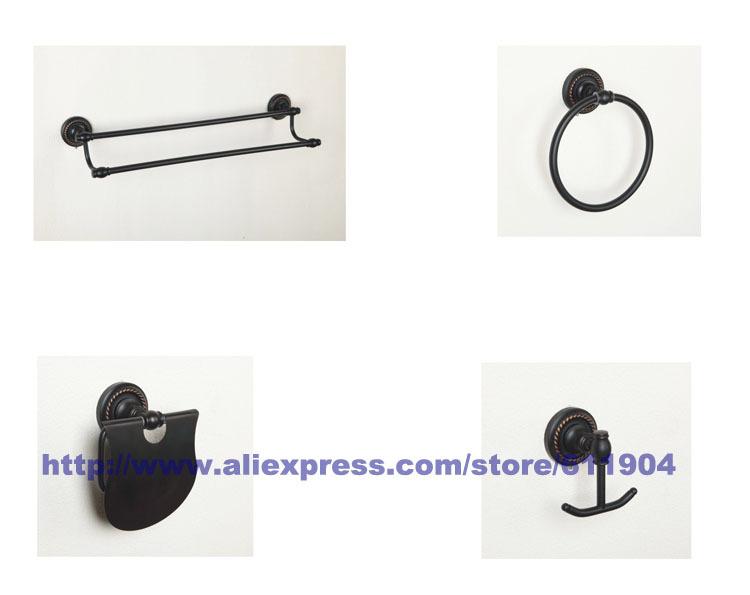 Oil Rubbed Bronze ORB Bathroom Hardware 4 Piece Set Bath Room Acessaries 3HA0105(China (Mainland))