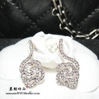 Aesthetic 3 line style flower stud earring fashion vintage fashion female earrings