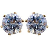 Garing Gold CZ Zircon Polygon Circle Stud Parties Gift Famale Stud Earring Stylish